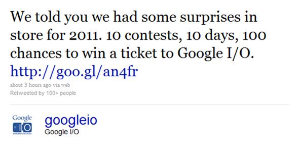google io tweet