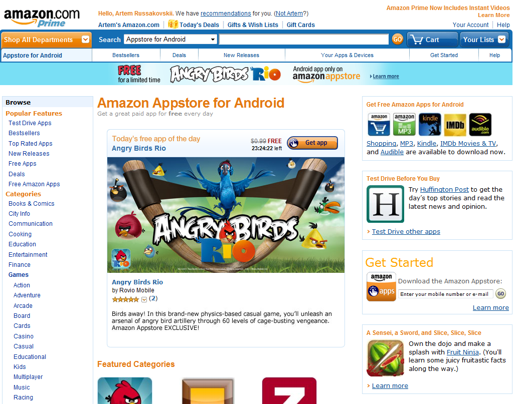 updated the amazon android appstore now live   angry