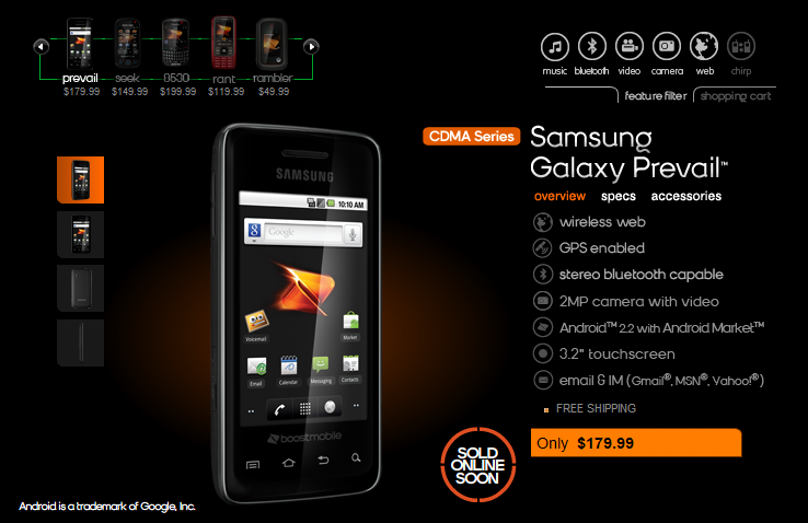 boost mobile android samsung. Boost Mobile and Samsung