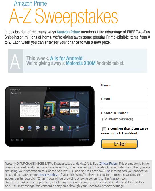 Free Stuff Alert] Amazon Is Giving Away 8 Motorola XOOM Wi-Fi Tablets