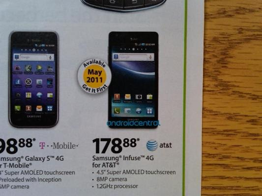 Samsung Infuse 4G Shows Its Face In A Walmart Circular