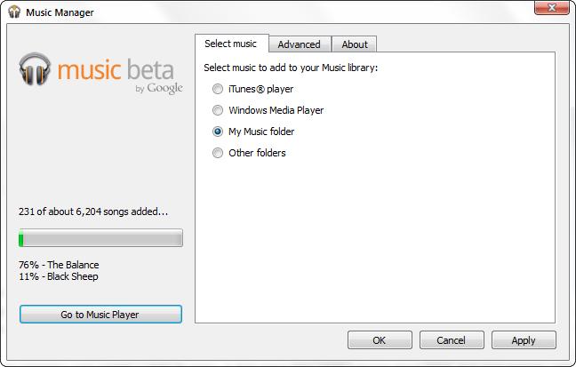 GoogleMusicUploader