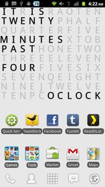 Text Clock 3