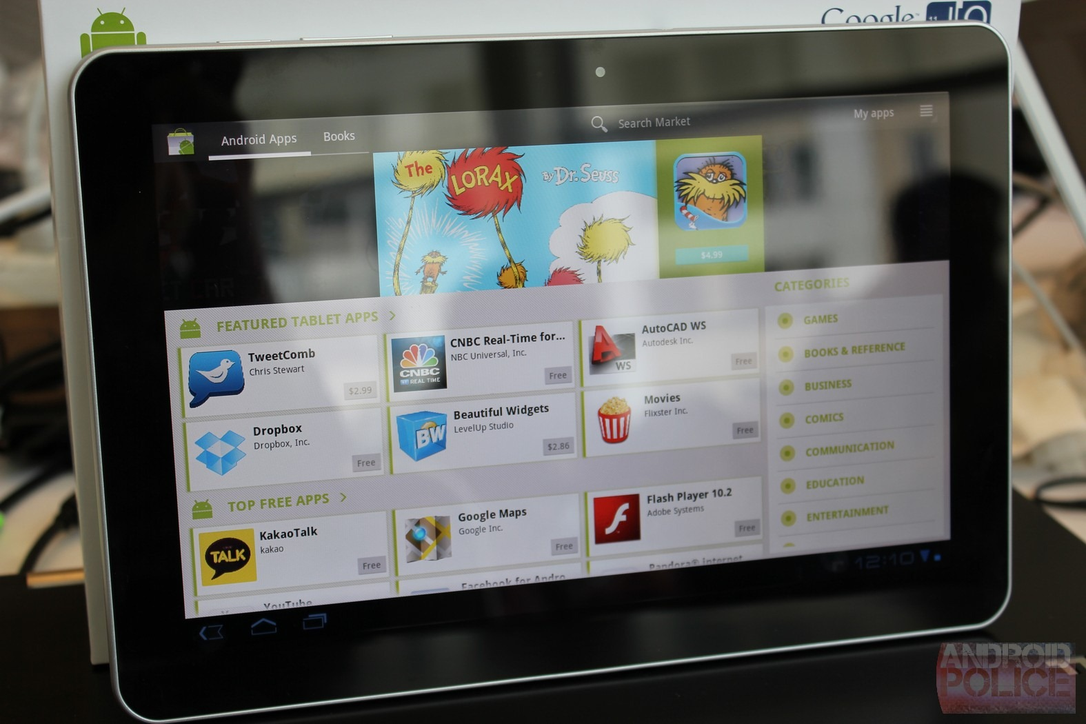 I o 2011 first deep dive look and hands on with the limited edition samsung galaxy tab 10 1 - Samsung dive app ...