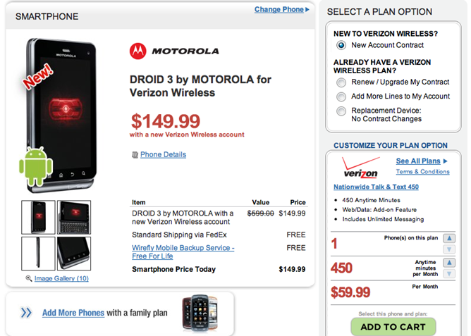 DROID 3 deal