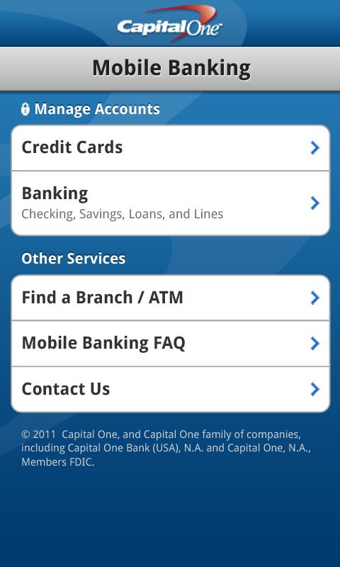 Capital One Releases Android App For Mobile Banking