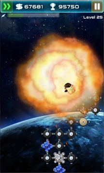 asteroid tower defense explosion