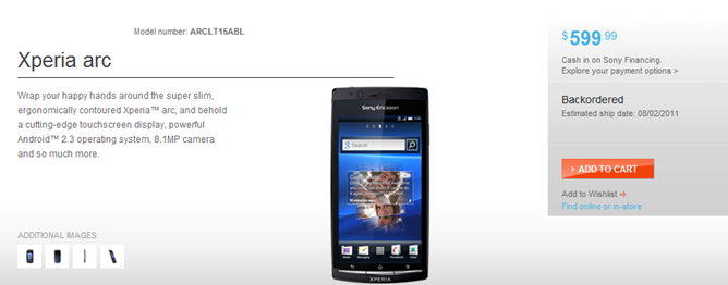 se xperia arc deal1