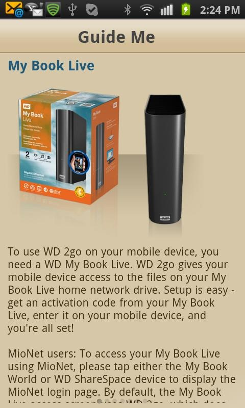 Western Digital Launches The WD 2go App Allowing My Book