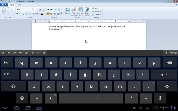 vmware view keyboard