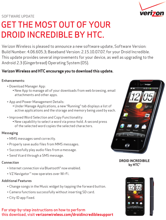 droid incredible sms cause code 1 error class 3.