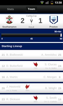 football league clubs app match team