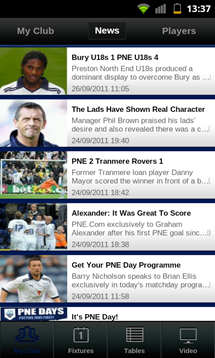 football league clubs app news