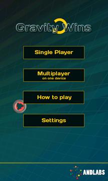 gravity main menu