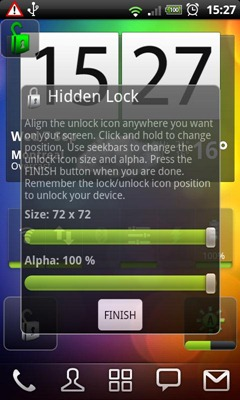 hidden lock screen