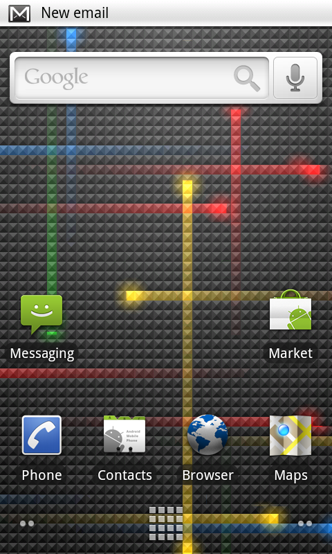 Nexus one home screen 21 Linea del tiempo de Android