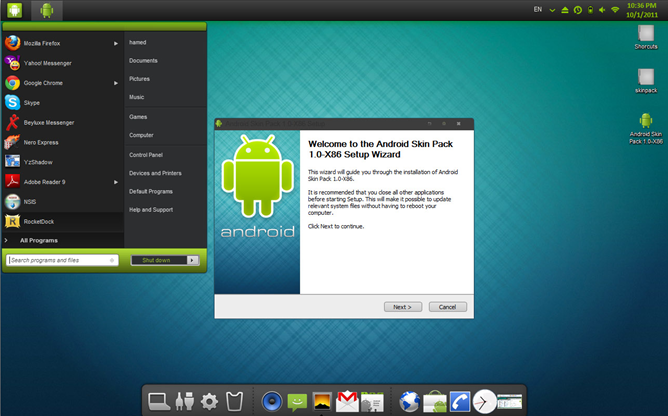 Download] Android Skin Pack Disguises Windows 7 As An Android ...