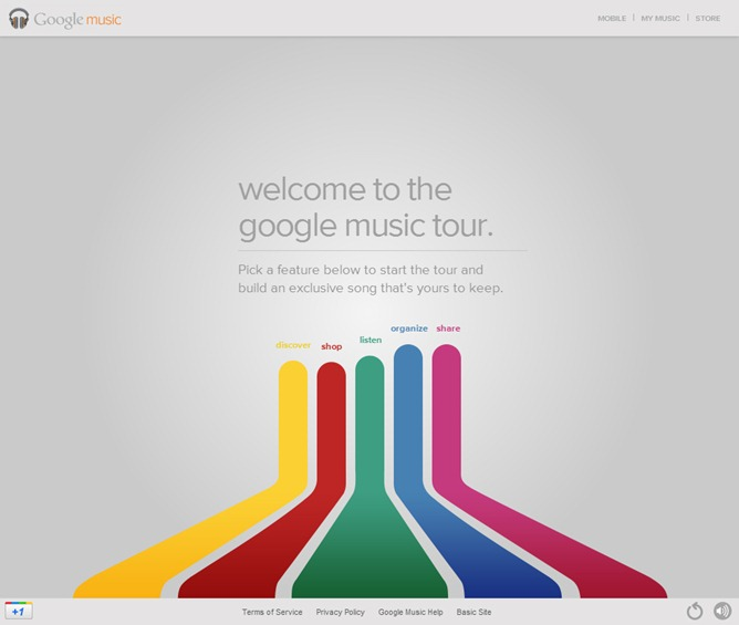 Google completely outdoes itself with the google music website tour