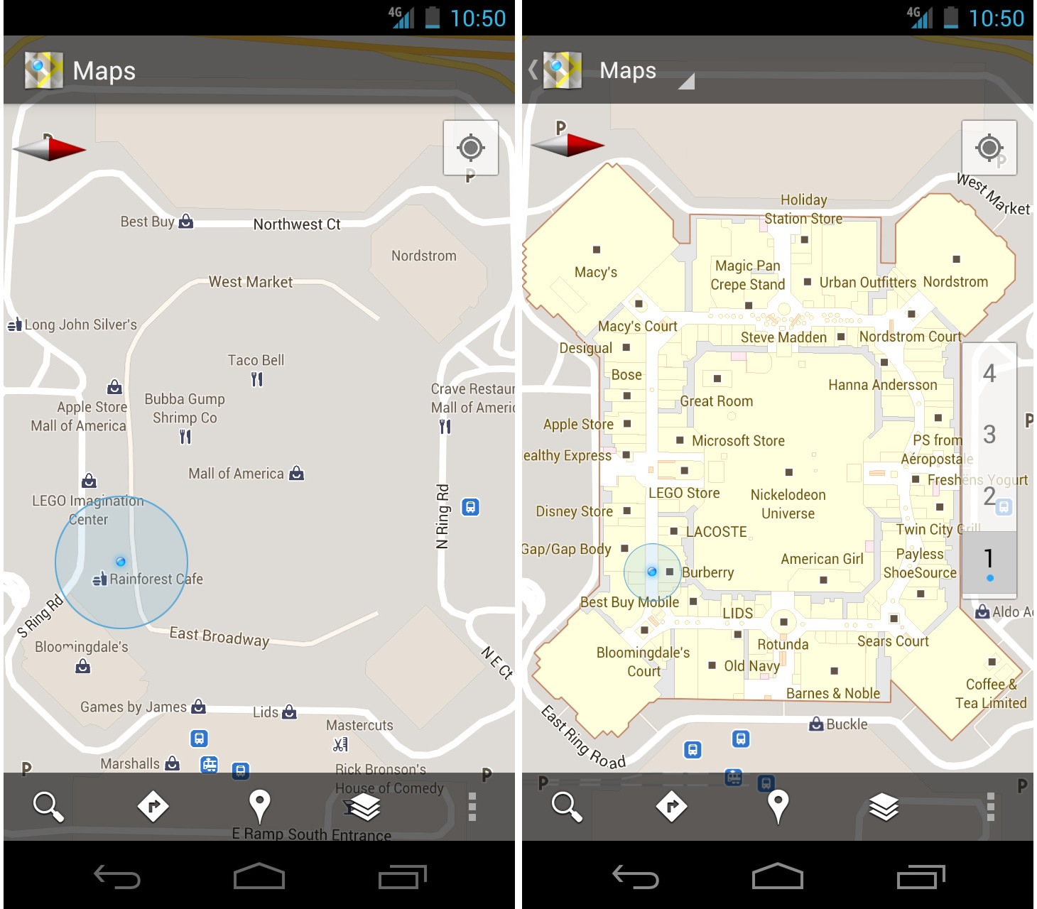 google maps updated to 6 0 indoor mapping in stores malls and