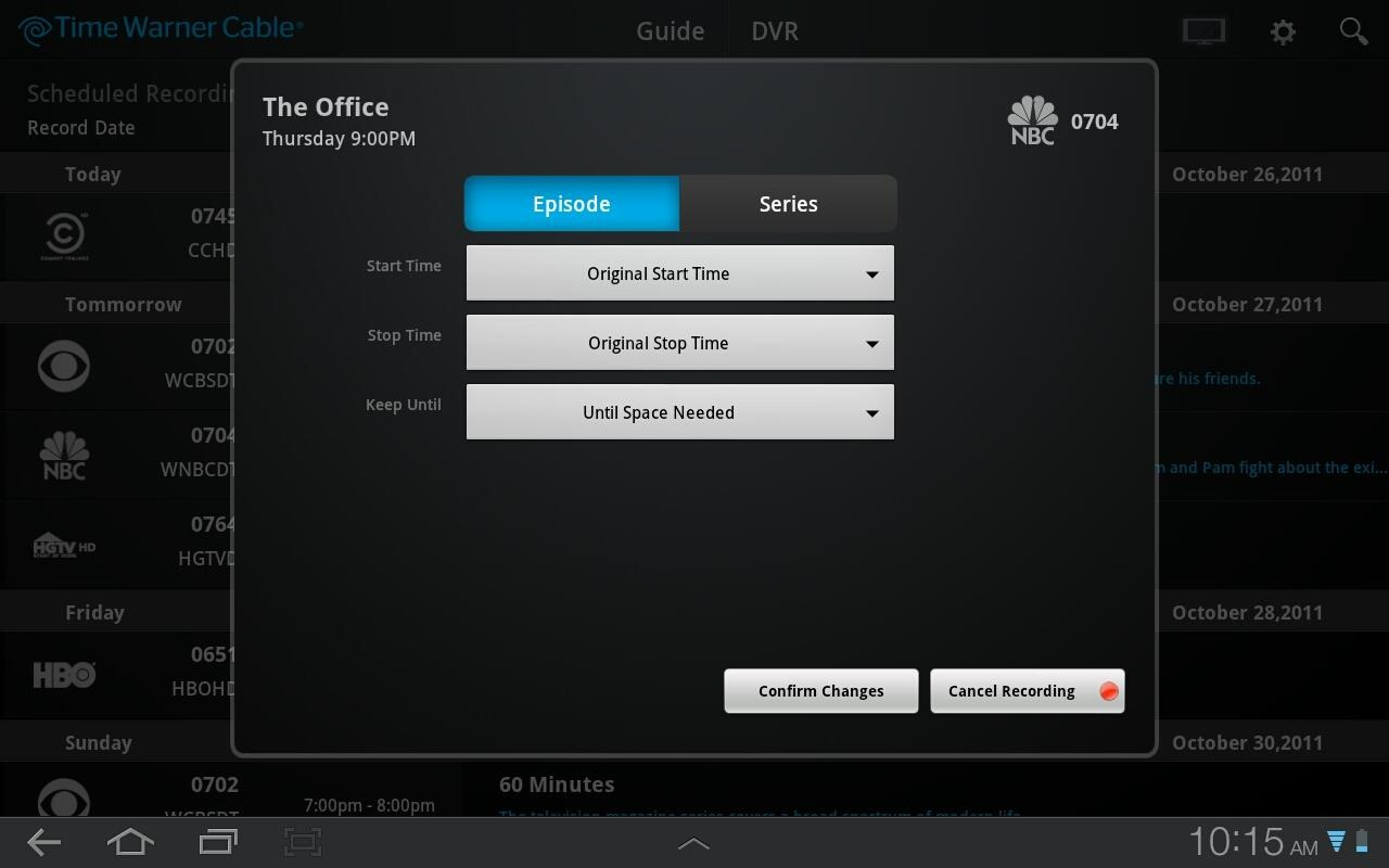 Time Warner Cable Releases Official App, Makes Your Android Tablet A