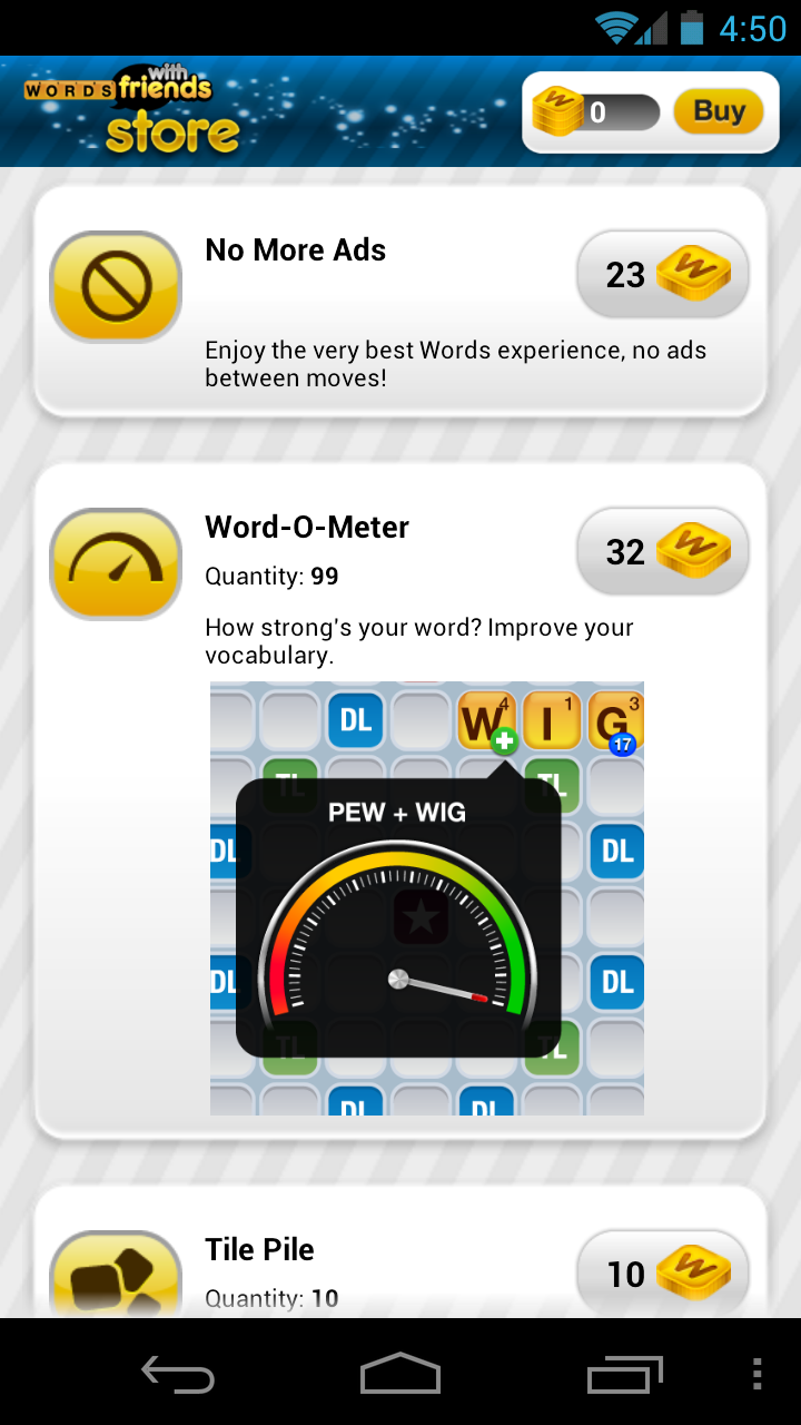 Words With Friends Updated To Include A Store Where You Can Buy