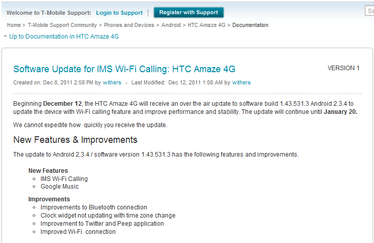 T-Mobile Rolling Out Software Update To HTC's Amaze 4G – Build 1 43