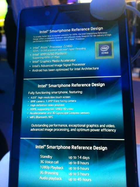 Intel-phone-specs