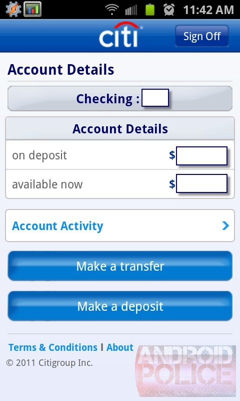 Citibank Mobile For Android Now Accepts Remote Check