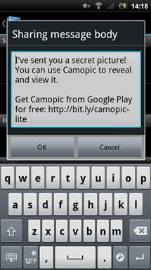 camopic-sharing-message