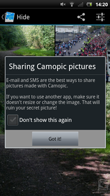 camopic-sharing-options