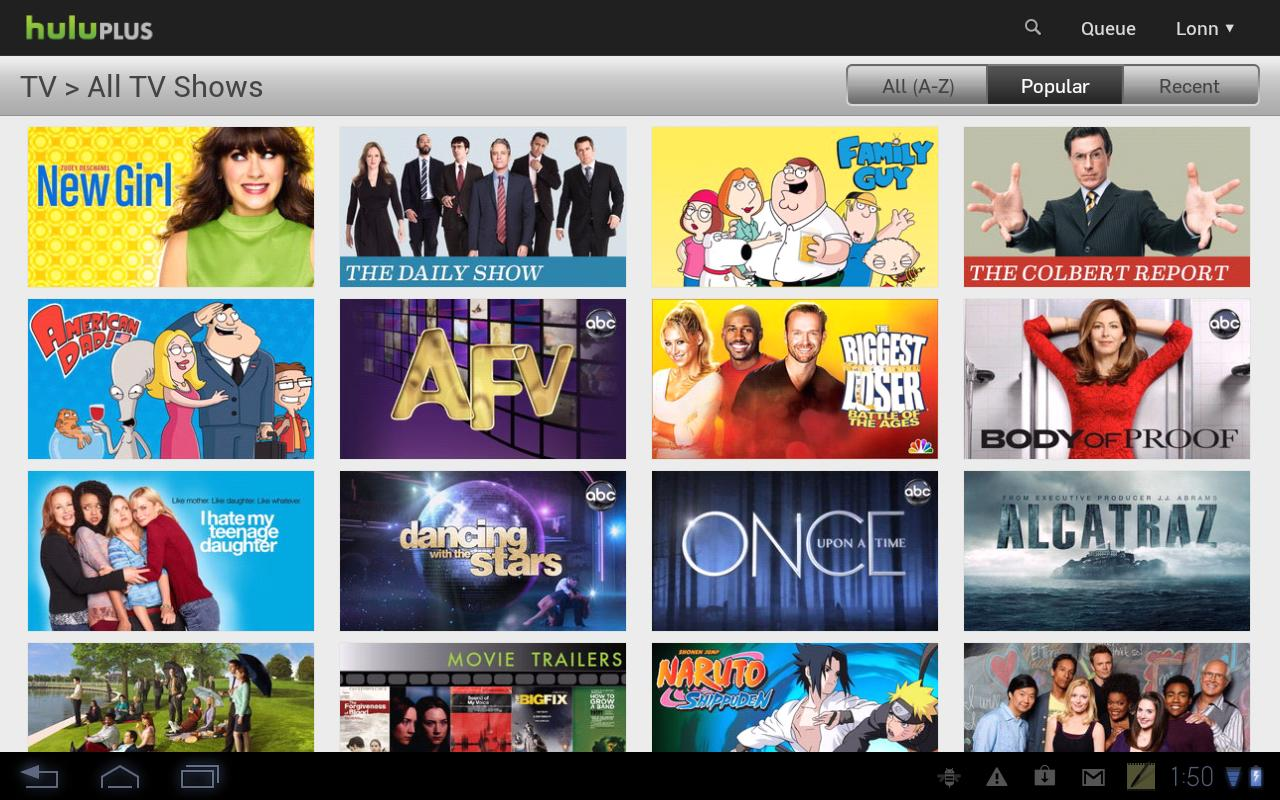 hulu plus update finally brings tablet optimized ui to select devices. Black Bedroom Furniture Sets. Home Design Ideas
