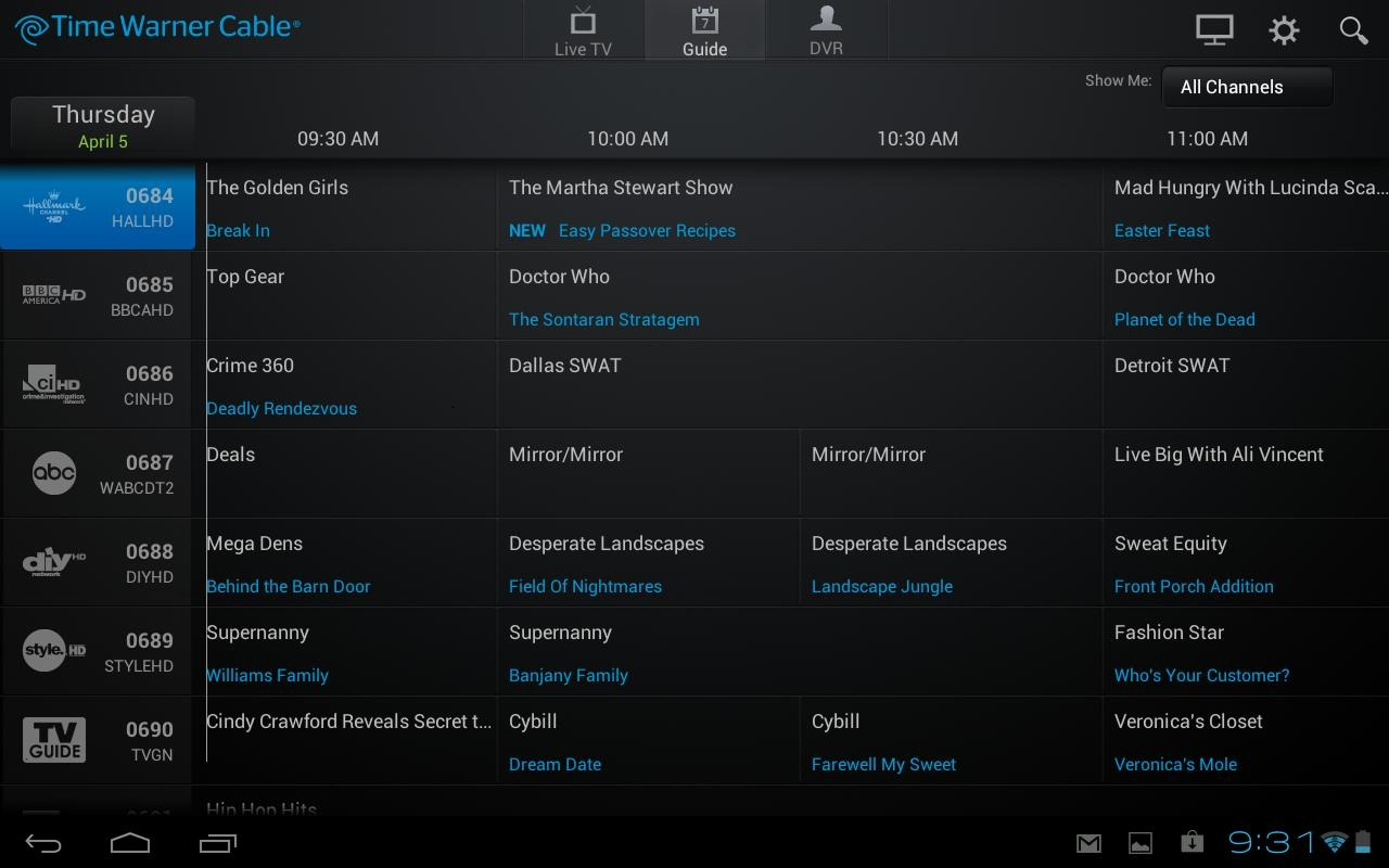time warner twc tv app update with support for live tv but it rh androidpolice com time warner cable dvr instruction manual Time Warner Remote Control Reprogram