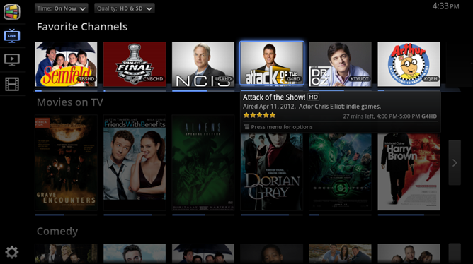 Favorite Channels_Google TV