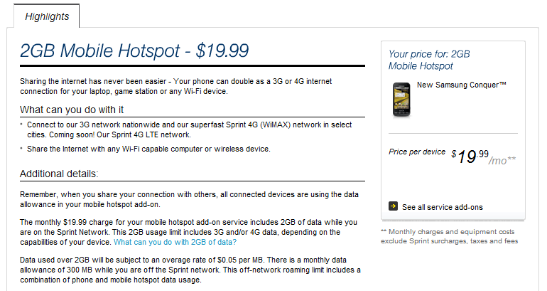 Sprint Kills 5GB/$29 99 Wi-Fi Hotspot Plan For Phones And Tablets
