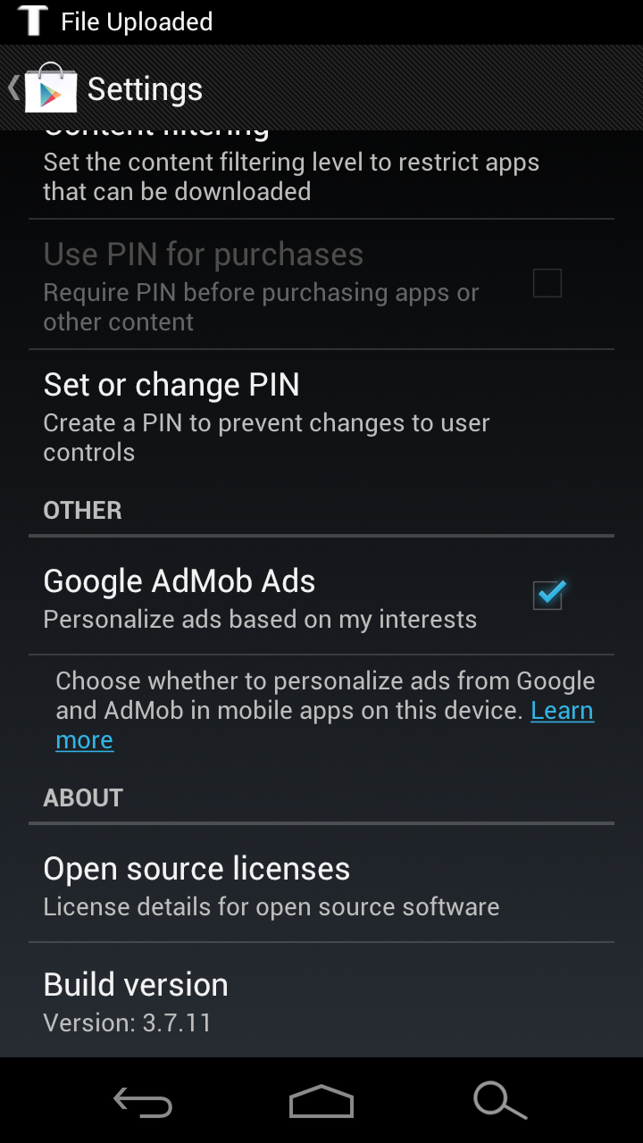 Download: Latest Google Play Store v 3 7 11 (Jelly Bean Edition)