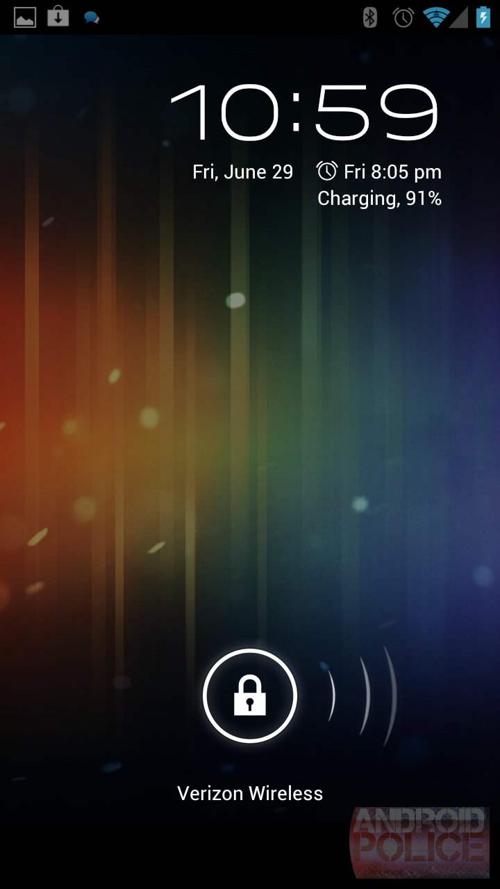 corby 2 turns android slide to unlock