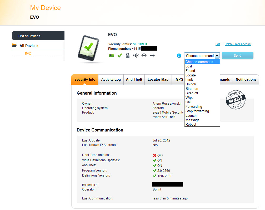 does avast mobile security work