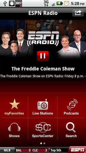 ESPN Replaces Its Old, Crappy ESPN Radio App With Brand New