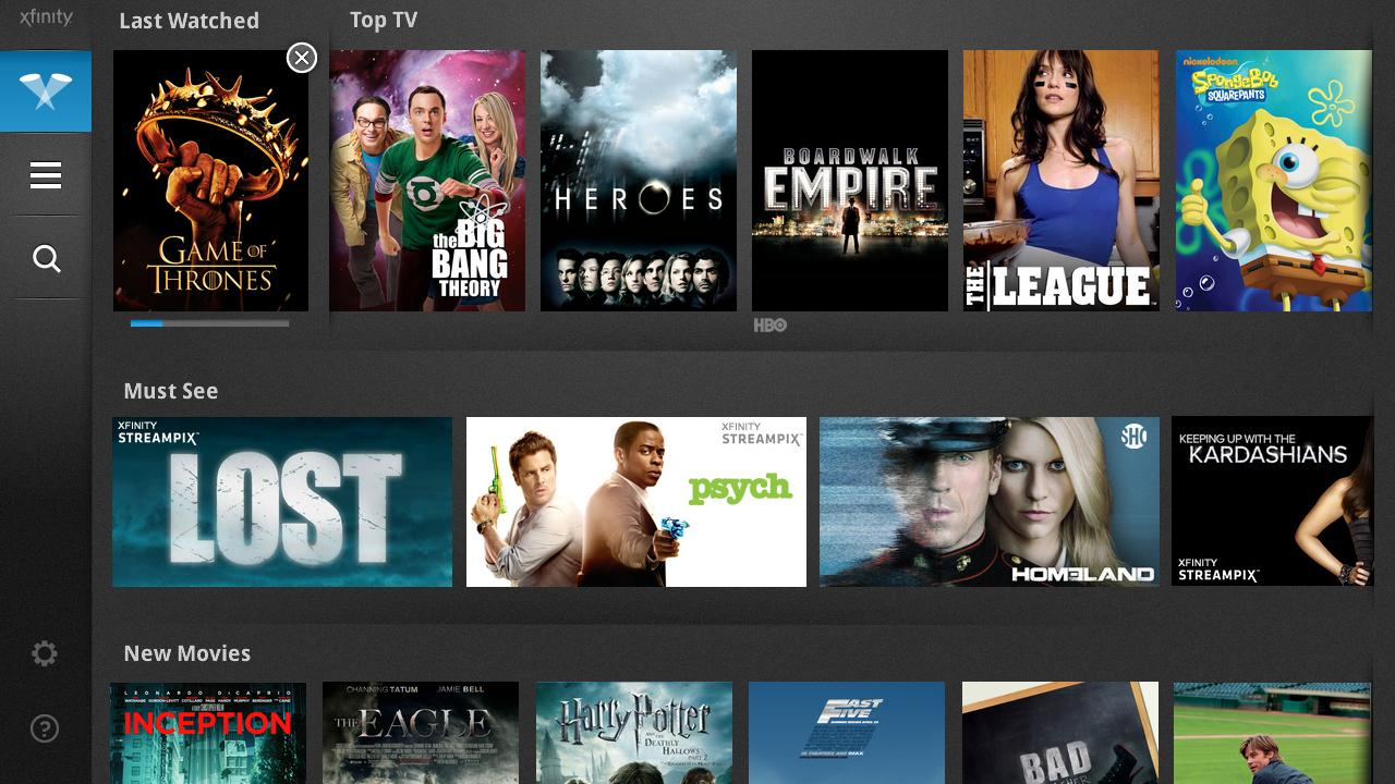 Xfinity tv player app updated to support the nexus 7 for Mirror xfinity app to tv