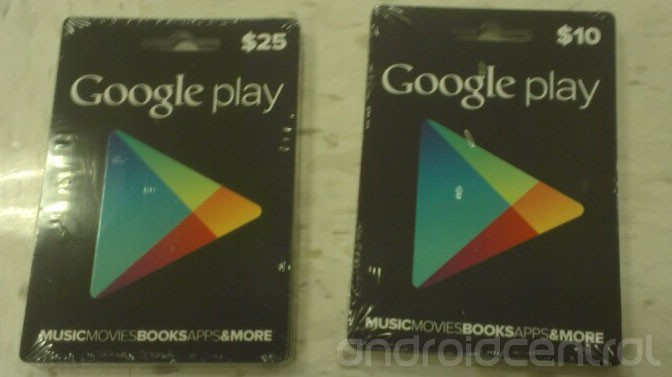Images Of Google Play Gift Cards Show Up Online In $10 And $25 ...