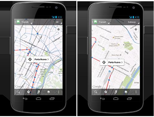In arrivo l'aggiornamento alla versione 6.10 di Google Maps: nuove funzionalità per i trasporti pubblici [UPDATE: Aggiornamento rilasciato]