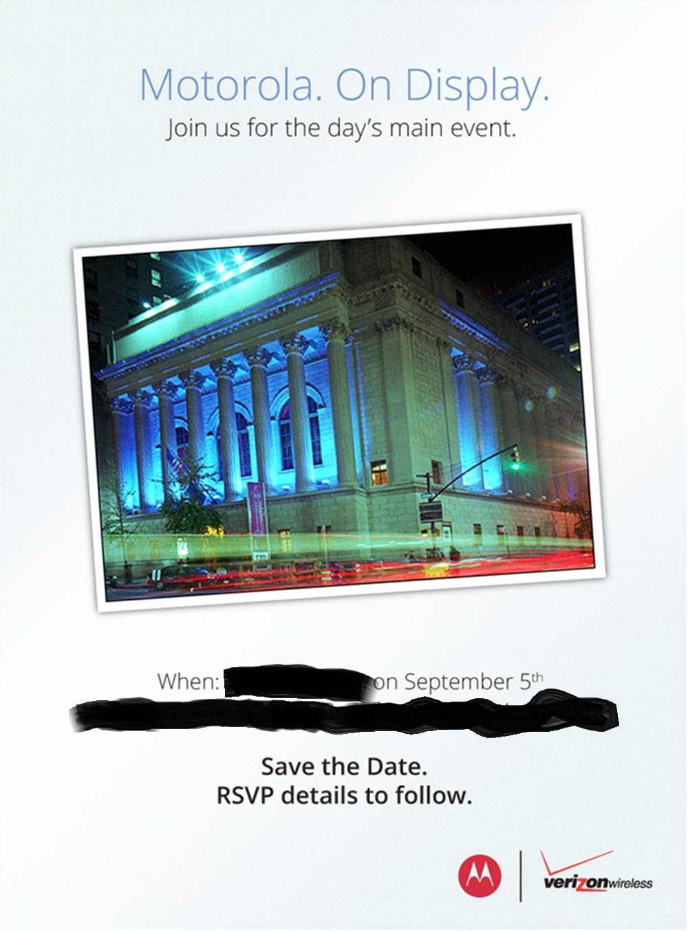 Motorola Announces September 5th Event With Verizon, The ...