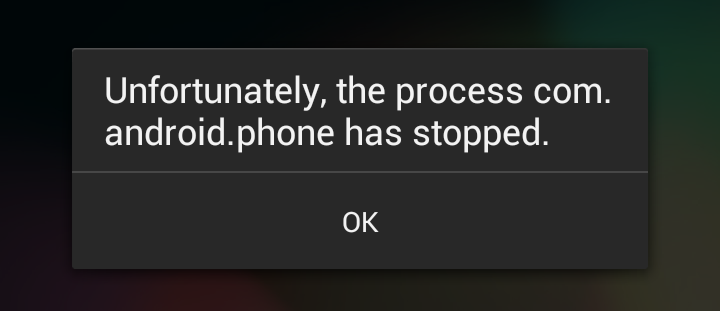 Android com android phone has stopped что делать