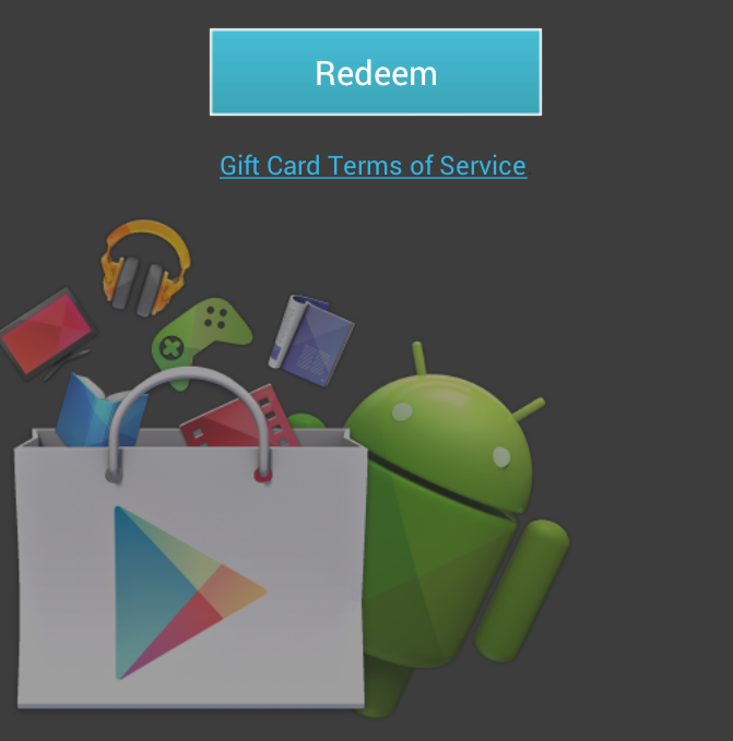 redeem google play gift card how to redeem google play gift cards using the device 5261