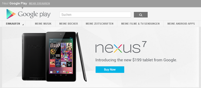Nexus 7 Now Available From The Play Store In France ...