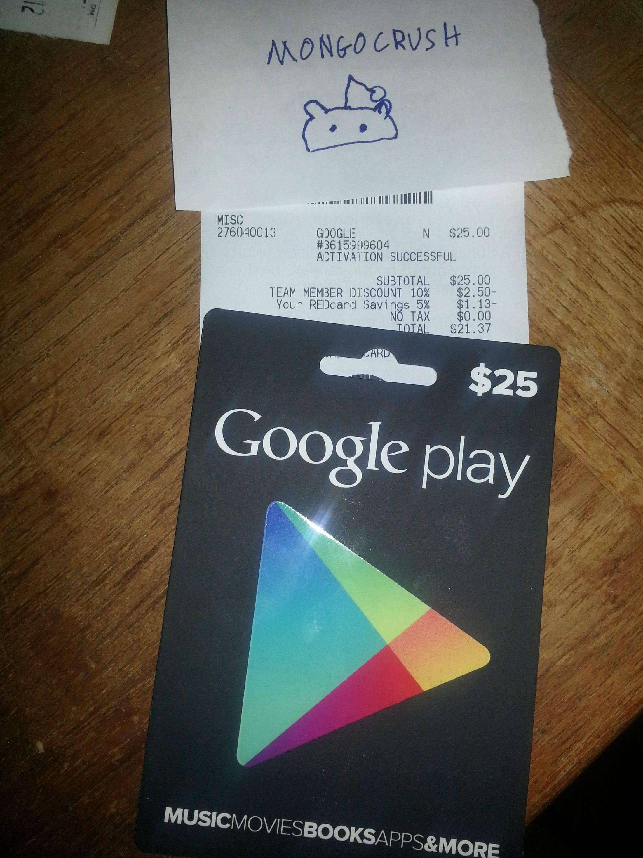 One Lucky Guy Buys $25 Google Play Store Gift Card, We ...