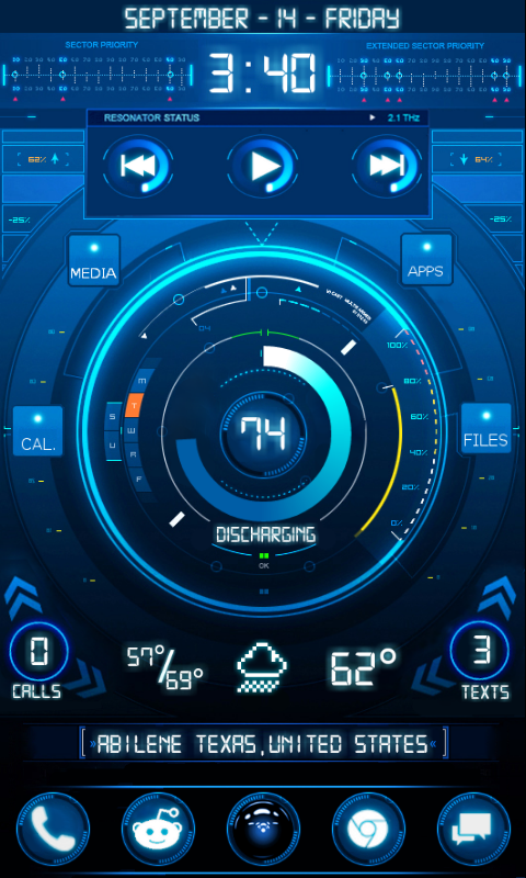 Updated reddit user crafts a beautifully integrated sci for Wallpaper home launcher