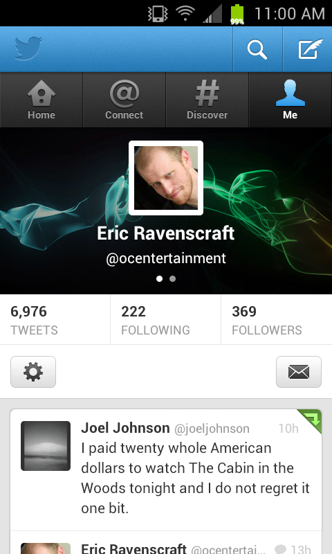 Image Gallery new twitter profile mobile