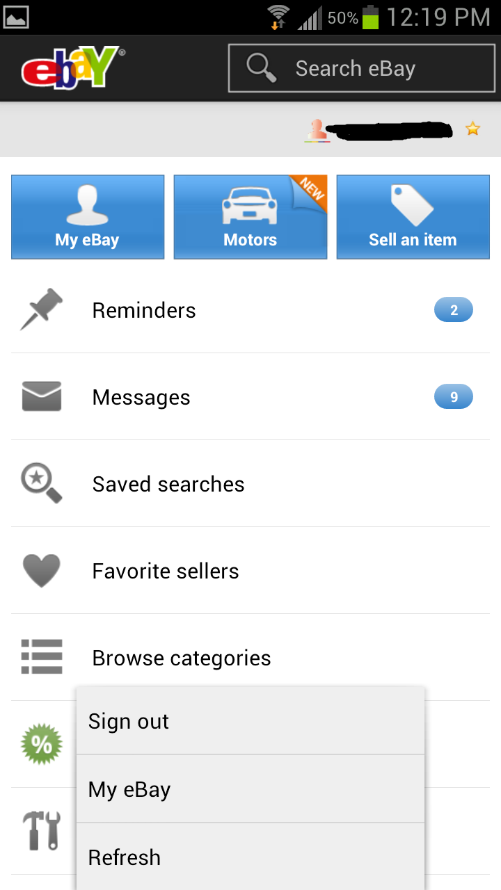 Update: Pulled] eBay For Android Updated To Version 2.0 - UI ...