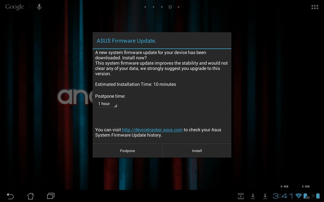 asus transformer pad tf300t getting ota update to 10 4 2 13